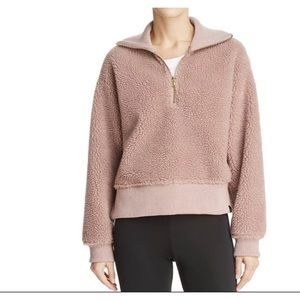 VARLEY Daphne Sherpa Funnel Neck Sweatshirt L